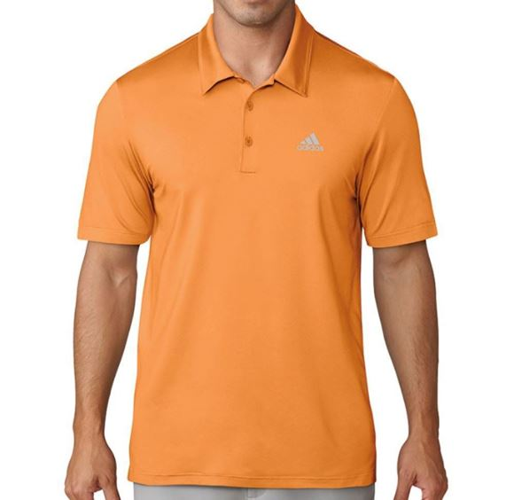 Picture of Adidas Mens Texture Tipped Climacool Polo Shirt - Yellow