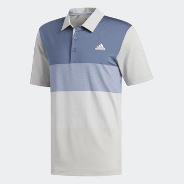 Picture of Adidas Mens Ultimate 365 Gradient Polo Shirt - Grey/Blue