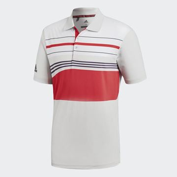 Picture of Adidas Mens Ultimate 365 Blocked Polo Shirt - White/Red