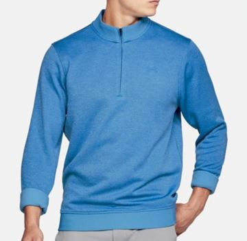 Picture of Under Armour Mens Storm Sweater Fleece 1/4 Zip Pullover - Blue