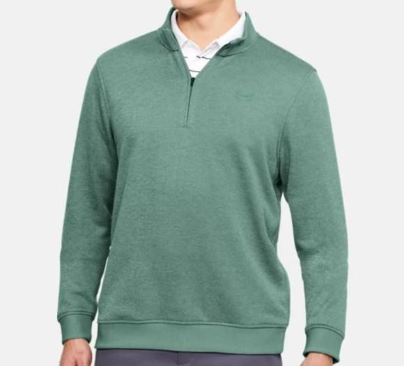 Picture of Under Armour Mens Storm Sweater Fleece 1/4 Zip Pullover - Green