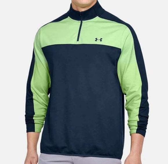 Picture of Under Armour Mens EU Midlayer - Navy/Green