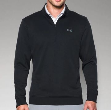 Picture of Under Armour Mens Storm Sweater Fleece 1/4 Zip Pullover - Black