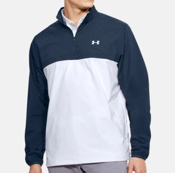 Picture of Under Armour Mens Storm WindStrike 1/4 Zip Pullover - White/Blue