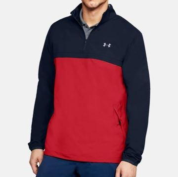 Picture of Under Armour Mens Storm WindStrike 1/4 Zip Pullover - Navy/Red