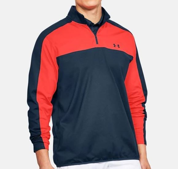 Picture of Under Armour Mens EU Midlayer - Red/Navy