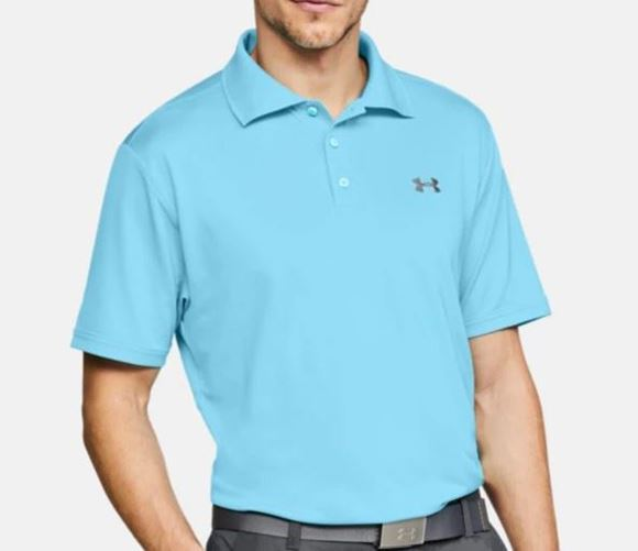 13f7028c8 Performance Polo Shirt Orange Turquoise - Next Day Delivery Golf ...