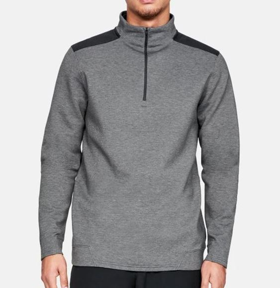 Picture of Under Armour Mens Playoff 1/4 Zip Pullover - Grey/Black