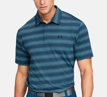 Picture of Under Armour Mens Playoff Polo Shirt - Blue Stripes