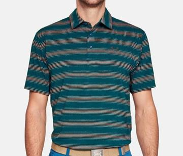 Picture of Under Armour Mens Playoff Polo Shirt - Blue/Orange