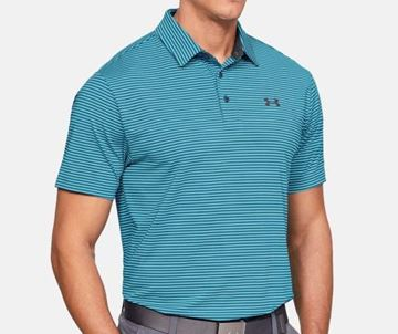 Picture of Under Armour Mens Playoff Polo Shirt - Green Stripes