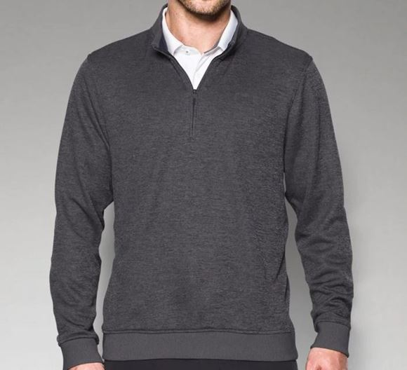 Picture of Under Armour Mens Storm Sweater Fleece 1/4 Zip Pullover - Grey
