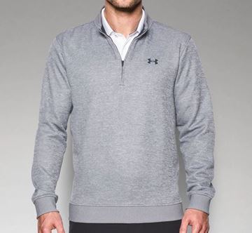 ca05422249a90 Picture of Under Armour Mens Storm Sweater Fleece 1/4 Zip Pullover - Light  Grey