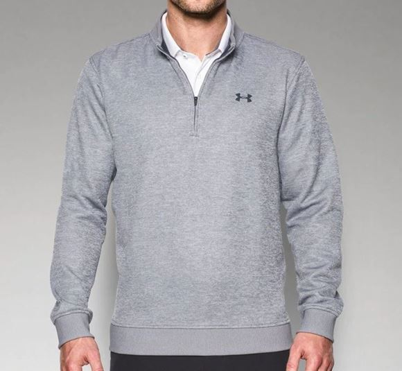 Picture of Under Armour Mens Storm Sweater Fleece 1/4 Zip Pullover - Light Grey