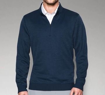 Picture of Under Armour Mens Storm Sweater Fleece 1/4 Zip Pullover - Navy