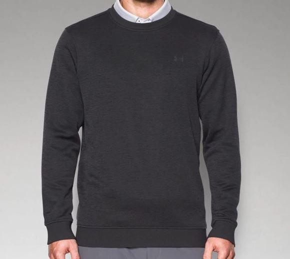 Picture of Under Armour Mens Storm Sweater Fleece Crew Sweater - Black
