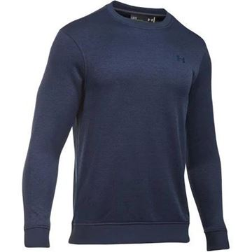 Picture of Under Armour Mens Storm Sweater Fleece Crew Sweater - Navy