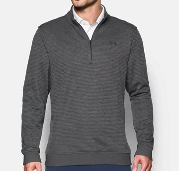 Picture of Under Armour Mens Storm Sweater Fleece Pattered 1/4 Zip Pullover - Grey