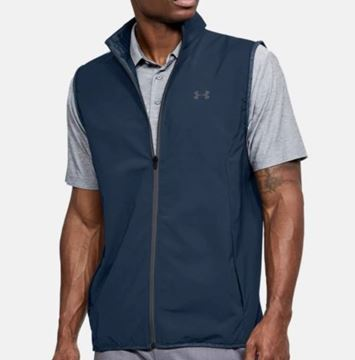 Picture of Under Armour Mens Windstrike Vest - Navy/White