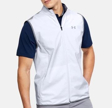 Picture of Under Armour Mens Windstrike Vest - White/Grey
