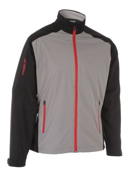 e4399dfb762e ProQuip PX1 Waterproof Jacket - Grey Black - Next Day Delivery Golf ...