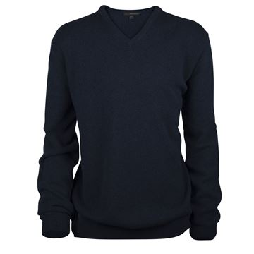 Picture of Greg Norman Golf Lambswool V-Neck Sweater - Navy