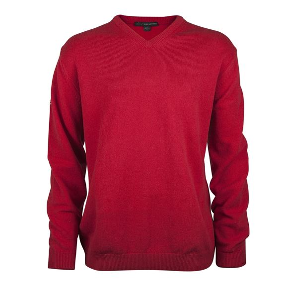 Picture of Greg Norman Golf Lambswool V-Neck Sweater - Red