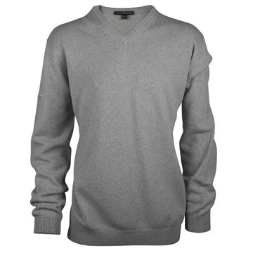 Picture of Greg Norman Golf Lambswool V-Neck Sweater - Grey