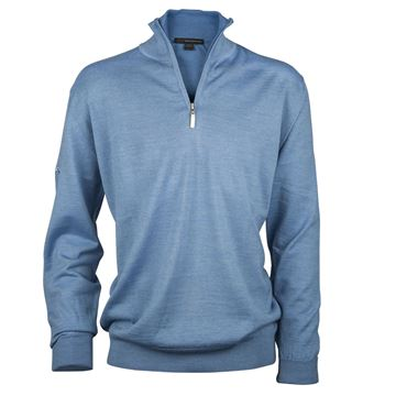 Picture of Greg Norman Golf Merino 1/2 Zip Sweater - Blue