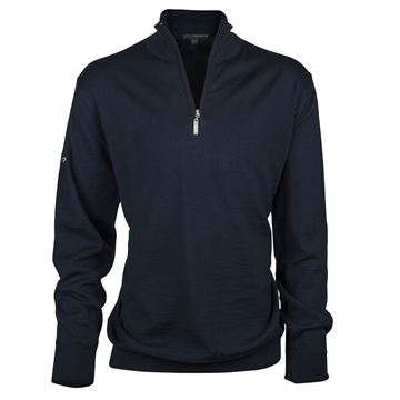 Picture of Greg Norman Golf Merino 1/2 Zip Sweater - Navy