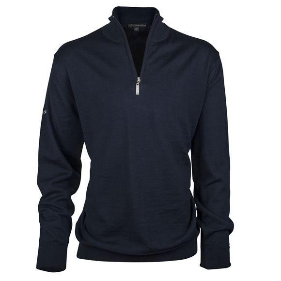 Picture of Greg Norman Golf Merino 1/2 Zip Sweater - Navy