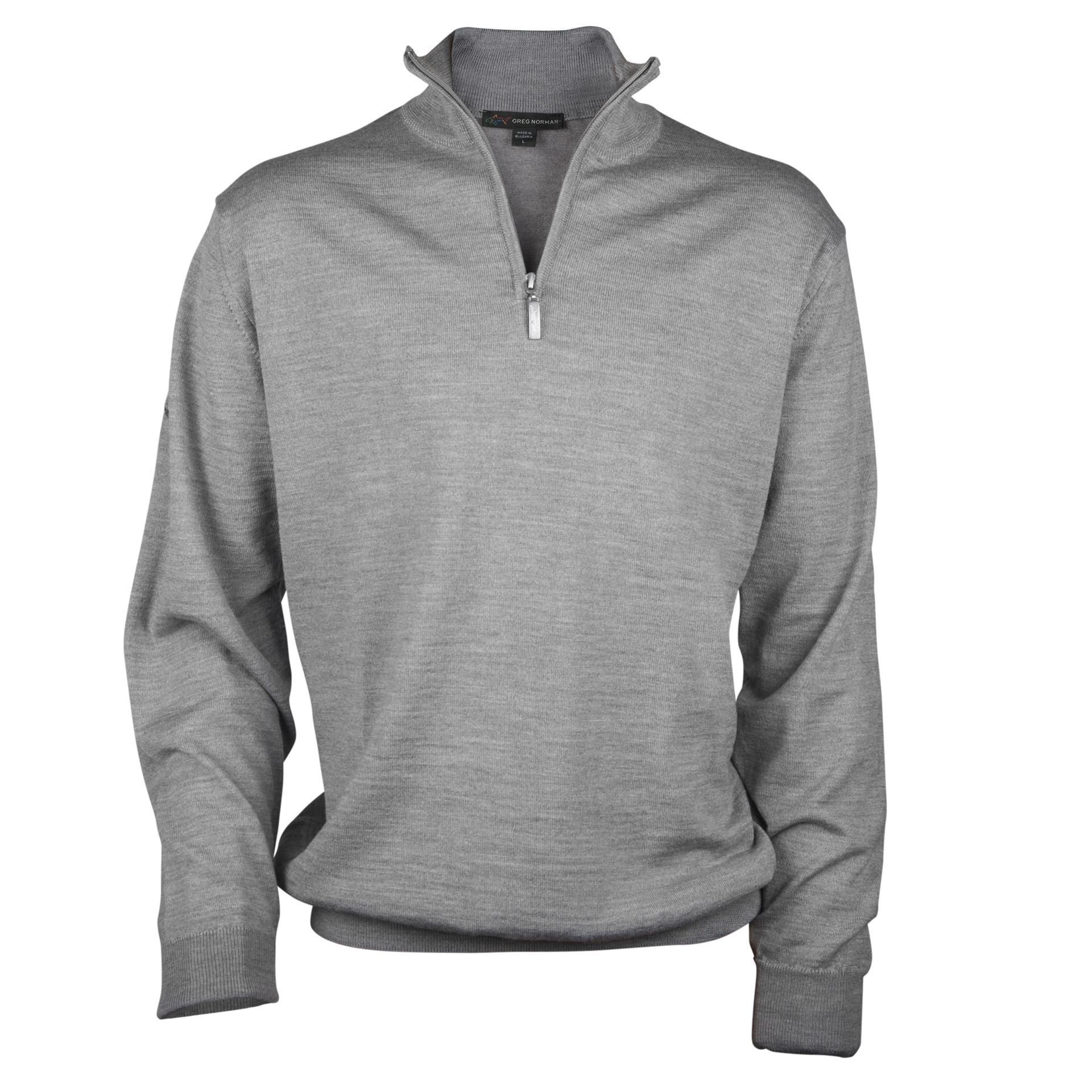 1e34d5f78588 Greg Norman Merino Half Zip - Grey - Next Day Delivery Golf Equipment