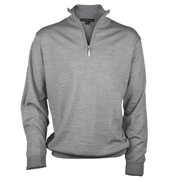 Picture of Greg Norman Golf Merino 1/2 Zip Sweater - Grey