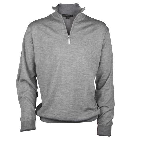 Picture of Greg Norman Golf Merino 1/2 Zip Sweater - Grey
