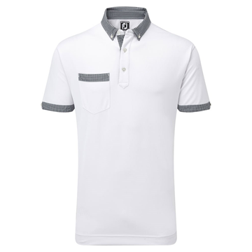 Picture of Footjoy Mens Smooth Pique Houndstooth Collar Polo Shirt 91668