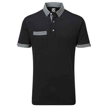 Picture of Footjoy Mens Smooth Pique Houndstooth Collar Polo Shirt 91836