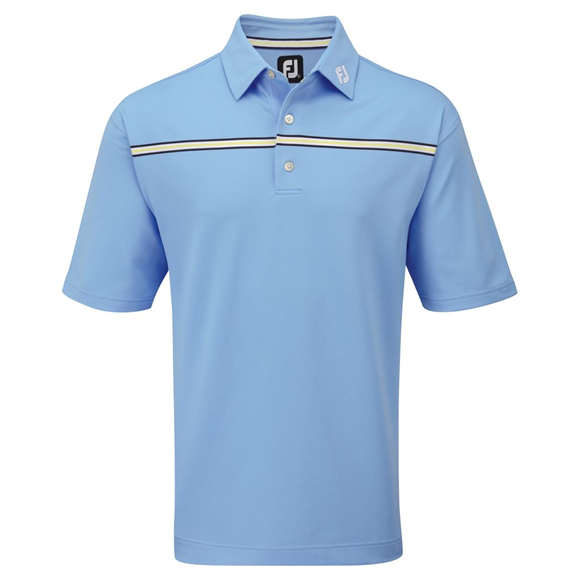 Picture of Footjoy Mens Stretch Pique Chest Stripe Self Collar Shirt 91737