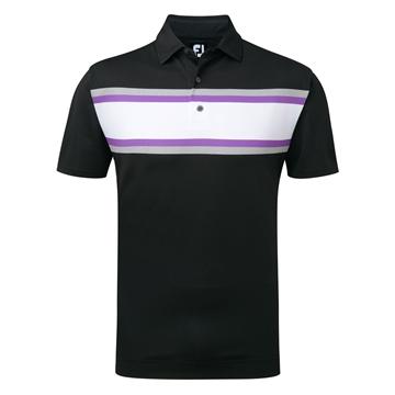 buy online c0a74 6726d Picture of Footjoy Mens Stretch Pique Chest Stripe Polo Shirt 91993