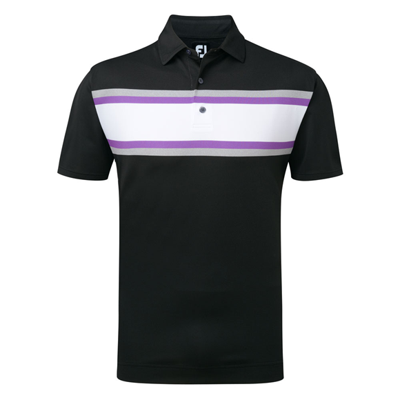 Picture of Footjoy Mens Stretch Pique Chest Stripe Polo Shirt 91993