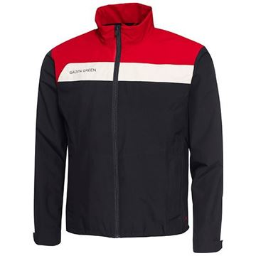 Picture of Galvin Green Mens Austin Waterproof Jacket - Black/Red