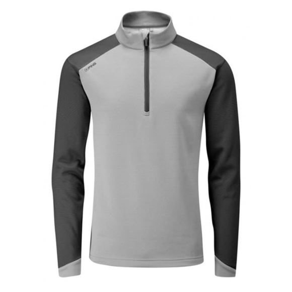 Picture of Ping Mens Austin 1/4 Zip Pullover - Silver