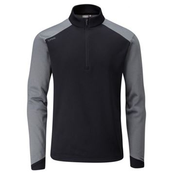Picture of Ping Mens Austin 1/4 Zip Pullover - Black