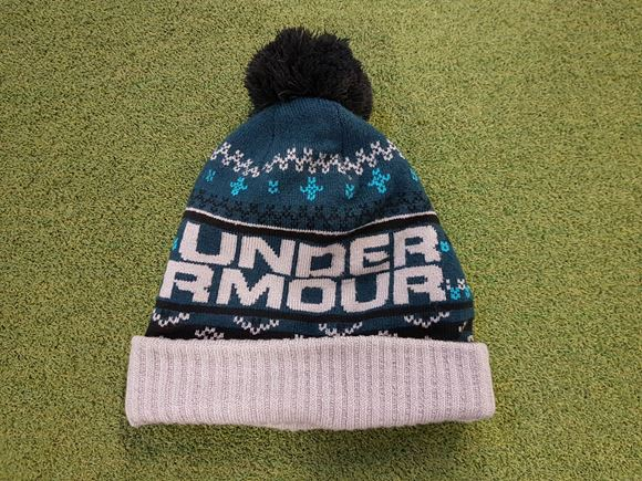 Under Armour Mens Bobble Hat - Teal - Next Day Delivery Golf Equipment 6a6f05cd24f