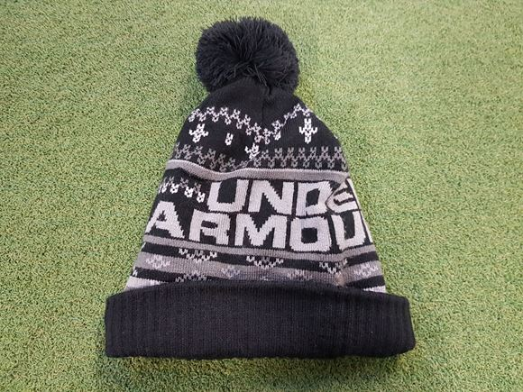 Under Armour Mens Bobble Hat - Black - Next Day Delivery Golf Equipment e4b4cc0b6fb