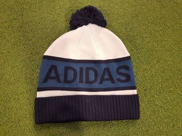 Picture of adidas Pompom Bobble Hat - White/Blue/Black
