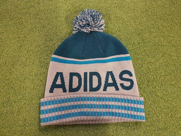 Picture of adidas Pompom Bobble Hat - Teal/Grey
