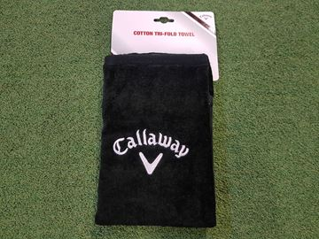 Picture of Callaway Tri-Fold Towel - Black