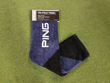 Picture of Ping Tri-Fold Towel - Navy/Blue