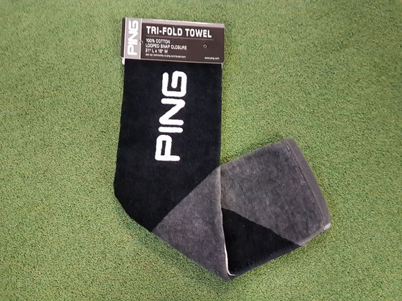 Picture of Ping Tri-Fold Towel - Black/Grey