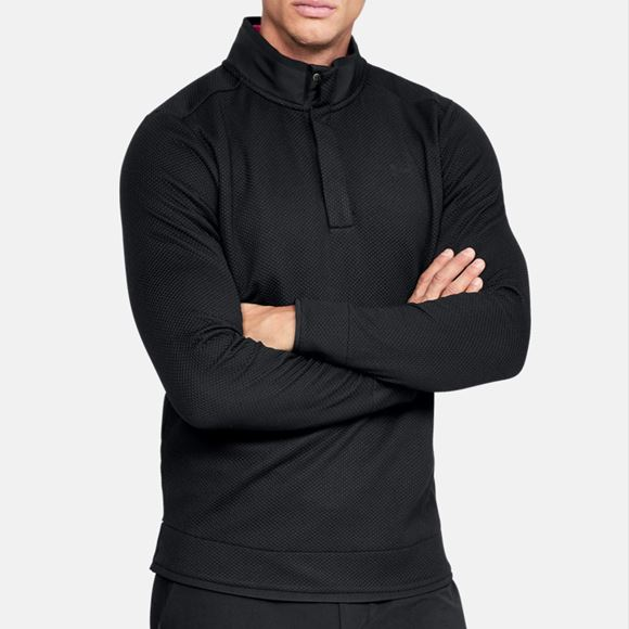 Picture of Under Armour Mens Storm Sweater Fleece Snap Mock - Black